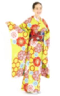 衿つき振袖 仕立屋甚五郎 亀甲 一人で簡単に着れる 安い