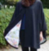 仕立屋甚五郎 アウター ポンチョコート 着物にも洋服にもあわせられる
