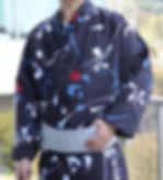 仕立屋甚五郎 オリジナル メンズ 浴衣 衿幅細め スタイリッシュ