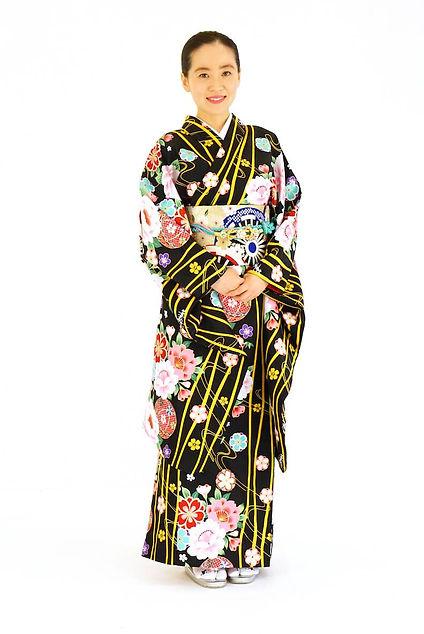 衿つき振袖 仕立屋甚五郎 鞠 ひとりで簡単に着れる
