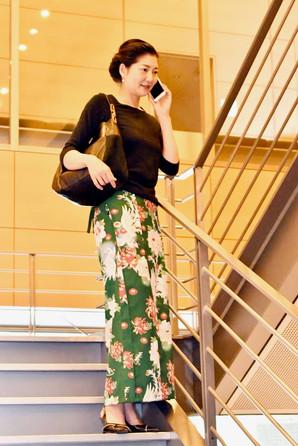 仕立屋甚五郎 和柄巻きスカート