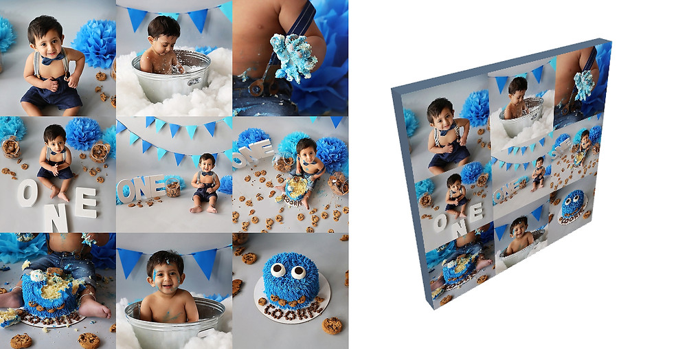 Cake Smash Canvas - Meagan Paige Photography