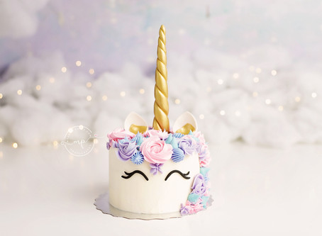MAGICAL UNICORN CAKE SMASH FOR THE WIN!! - Meagan Paige Photography