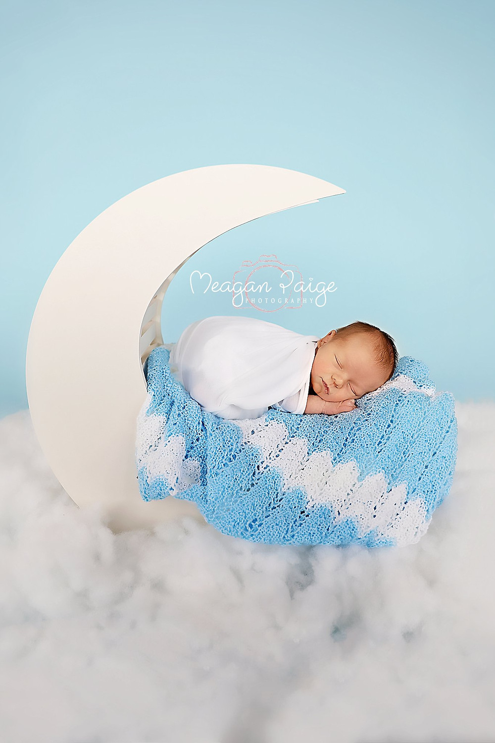 Baby Boy James in Newborn Moon Prop
