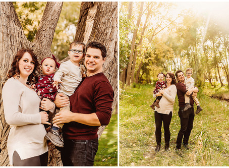 Playful Fall Family Session - Confederation Park, Calgary