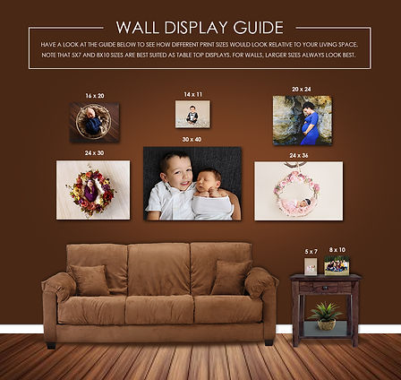 Wall Display Guide - Meagan Paige Photography