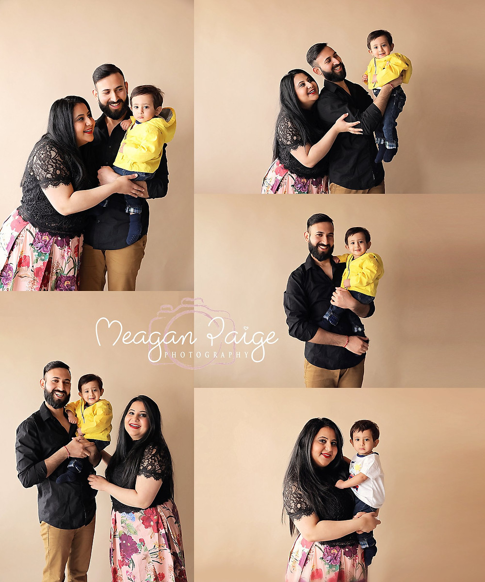 Family Photos in my studio - Meagan Paige Photography