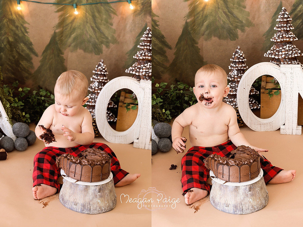Great Outdoors Cake Smash - As Seen on CTV News Calgary!! - Meagan Paige Photography