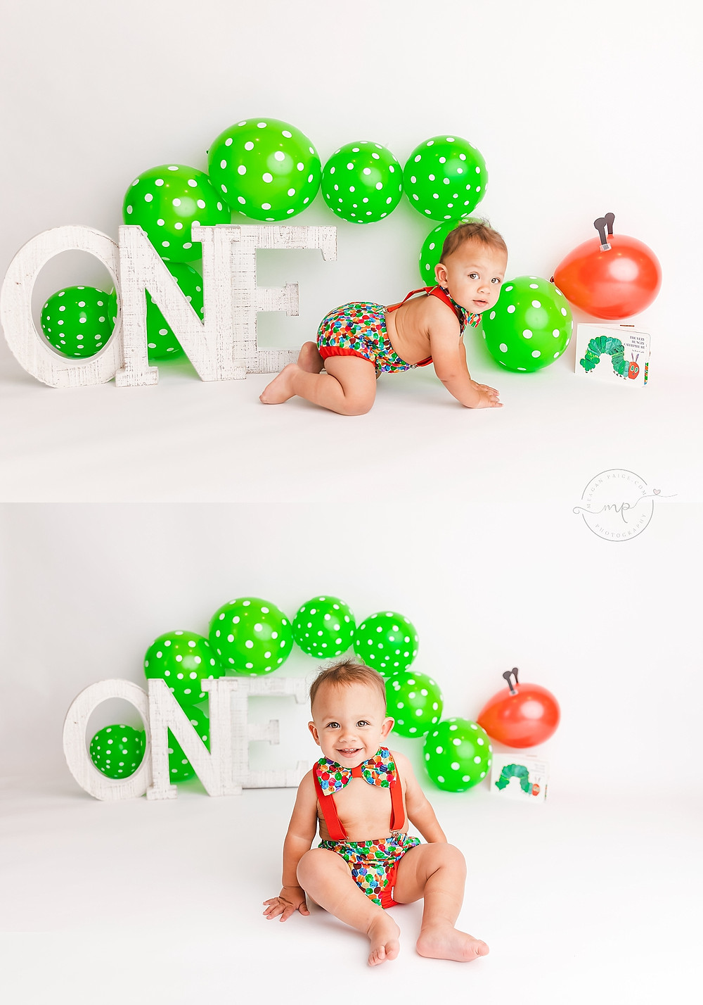 Very Hungry Caterpillar Cake Smash - Calgary, AB Photographer