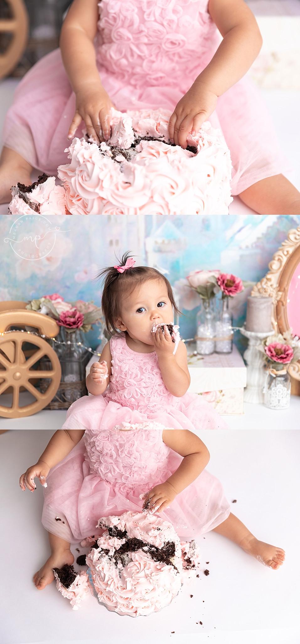 Princess Cake Smash - Calgary, AB - Meagan Paige Photography
