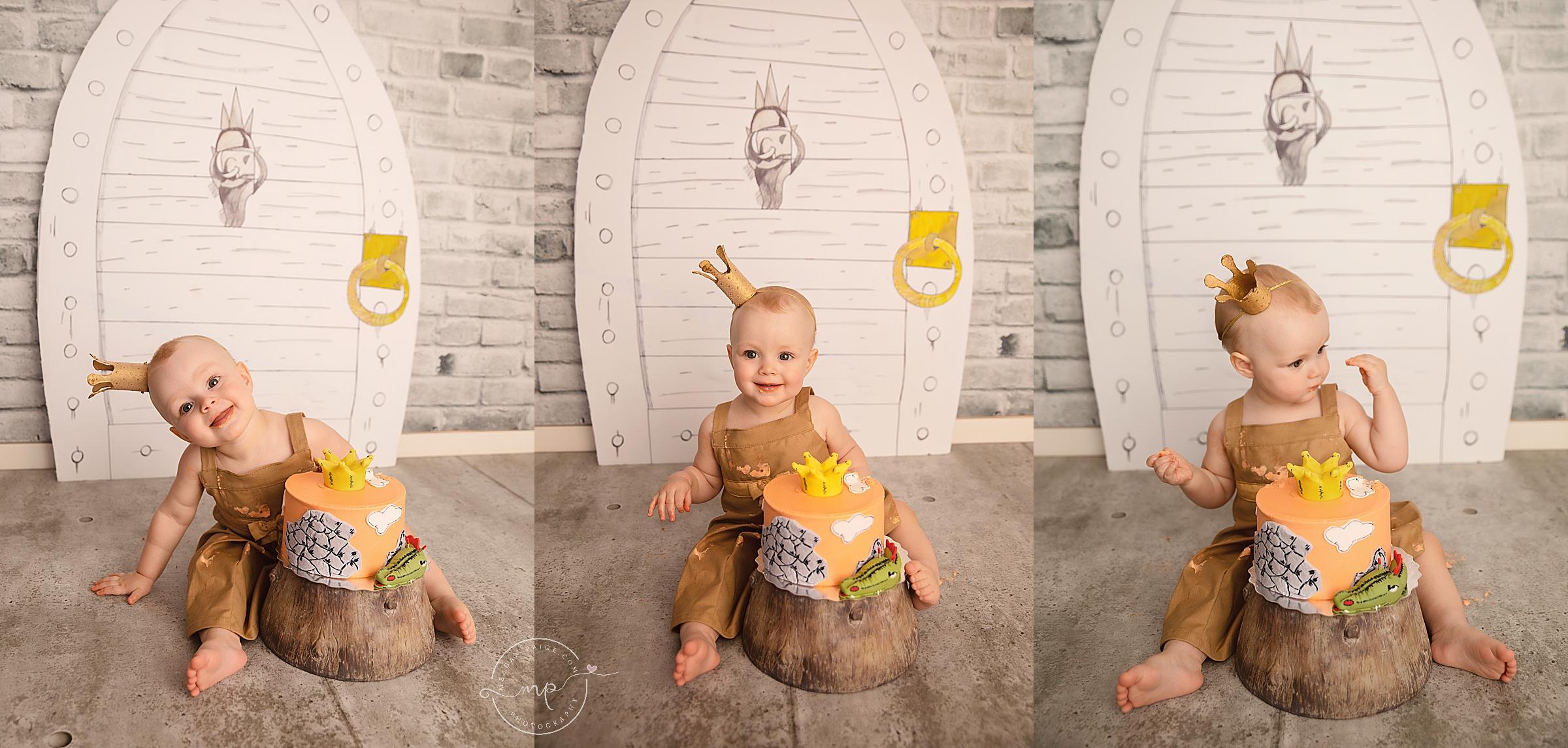 Paper Bag Princess Cake Smash - Calgary Child Photographer - Meagan Paige Photography