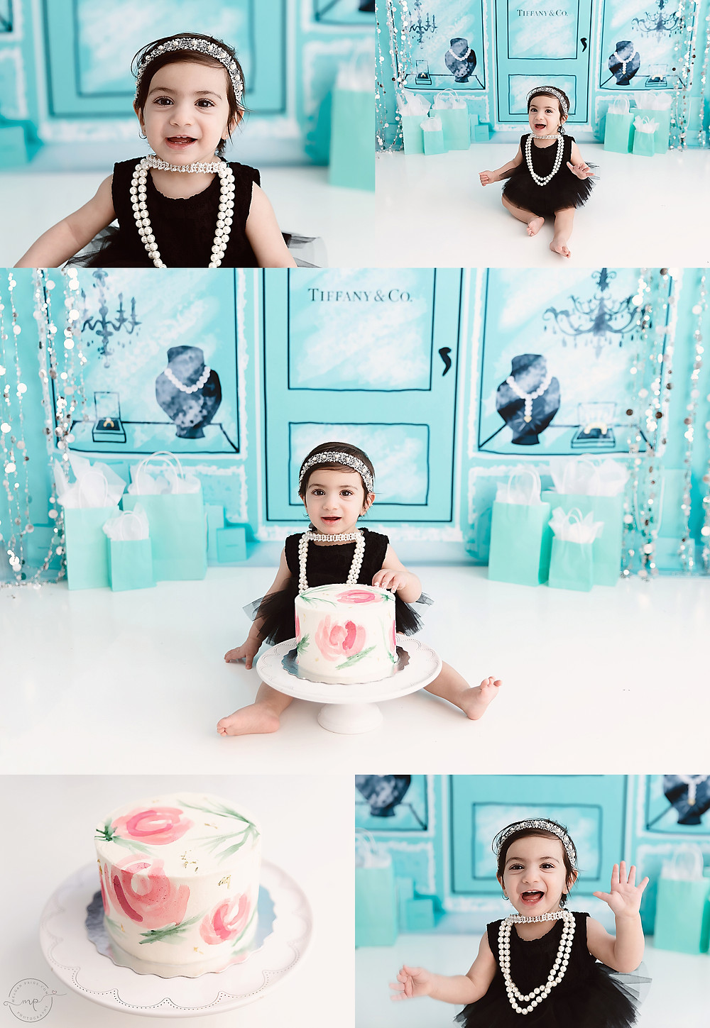 A Breakfast at Tiffanys Cake Smash - Meagan Paige Photography - Calgary Photographer