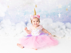 Unicorn Dress and Headband (12 Month)
