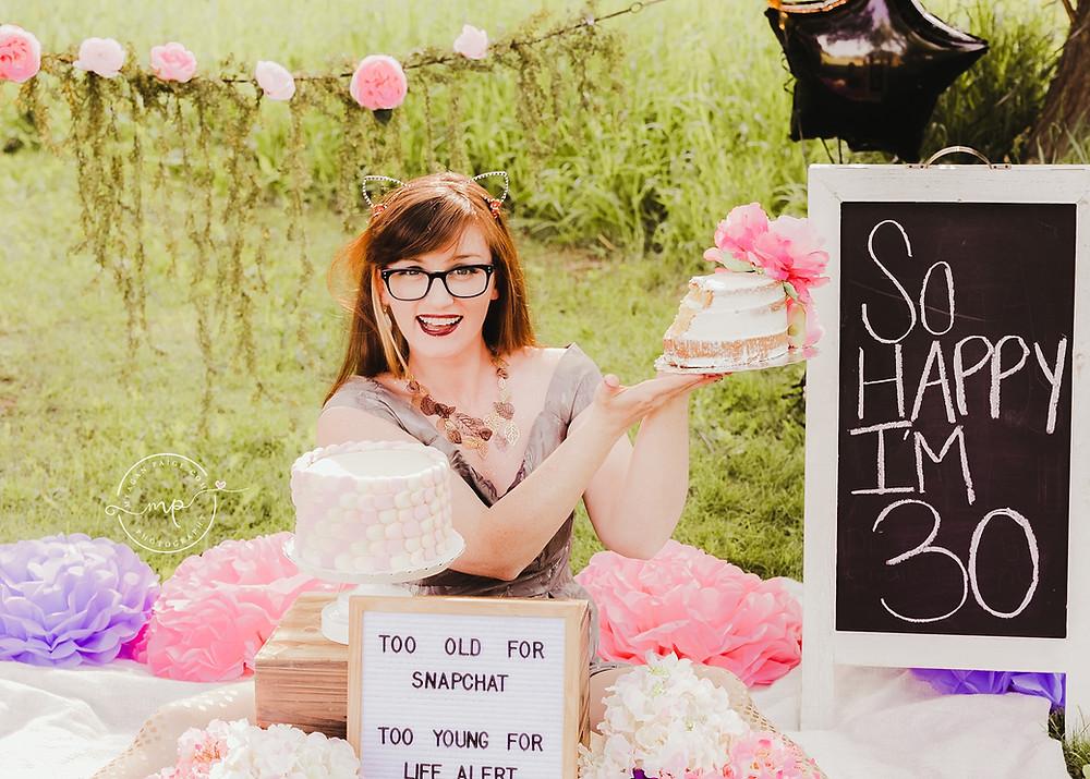BEST 30TH BIRTHDAY CELEBRATION EVER!! - Calgary Cake Smash Photographer - Meagan Paige Photography