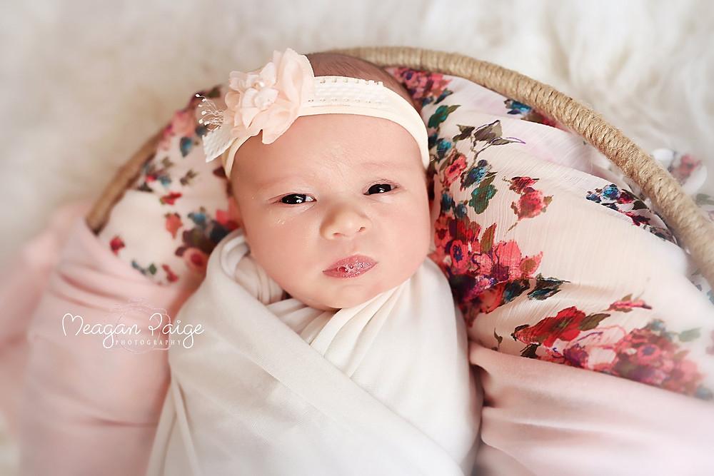Newborn Girl, Spit Bubbles