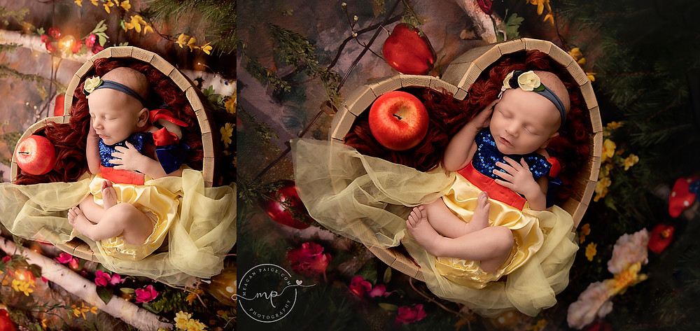 Disney Princess Inspired Newborn Session - Calgary, AB - Meagan Paige Photography