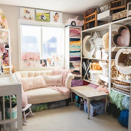 Welcome to my Calgary Home Photo Studio - Newborn, Maternity, Cake Smash Photographer