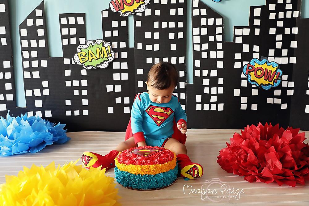 Superman Cake Smash Ideas
