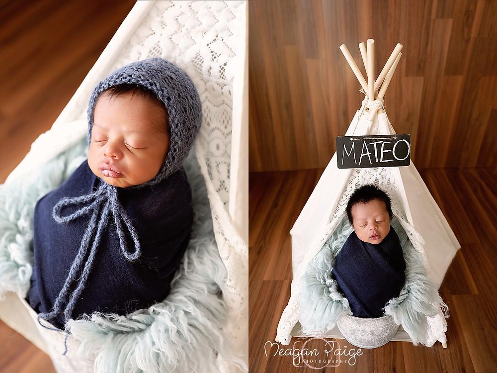 Calgary Newborn Photography - Baby Boy Mateo - Meagan Paige Photography