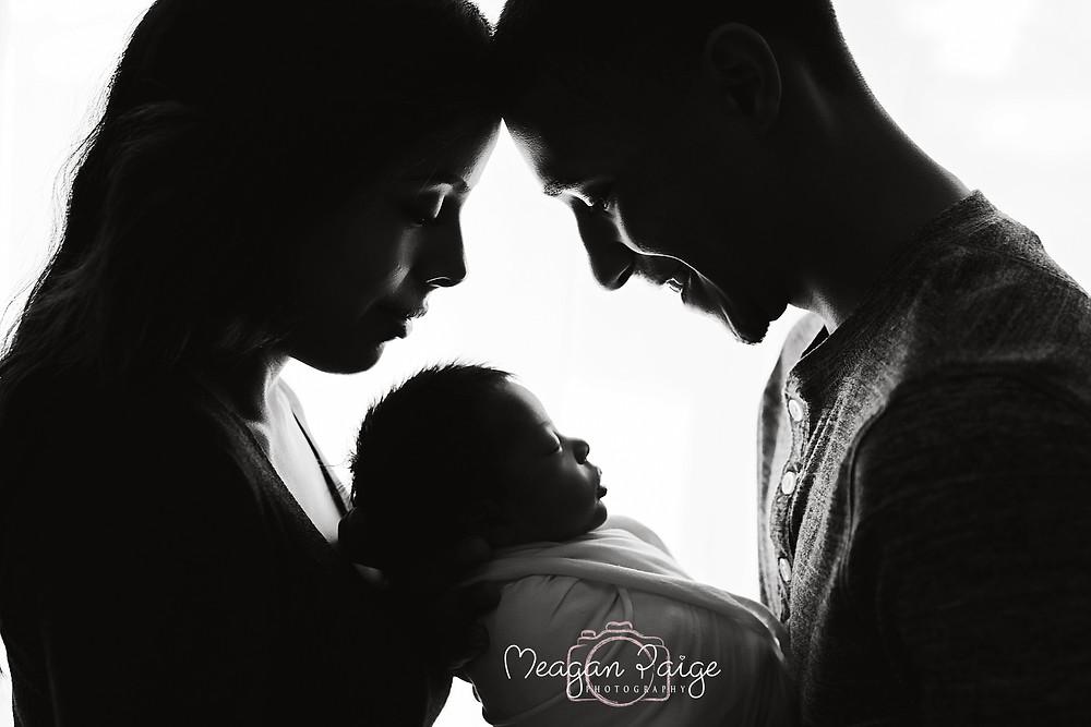 Calgary Newborn Photography - Parent Posing