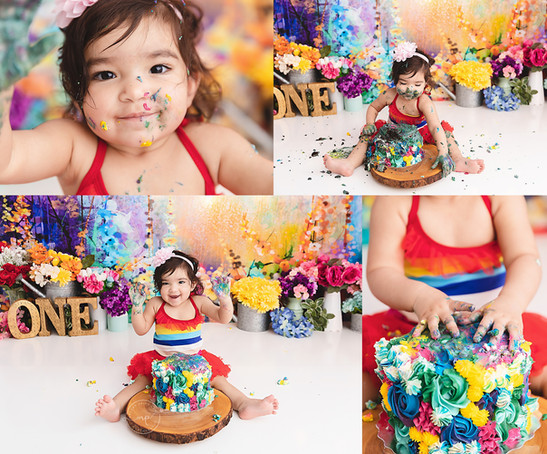 Calgary Cake Smash Photographer - Meagan