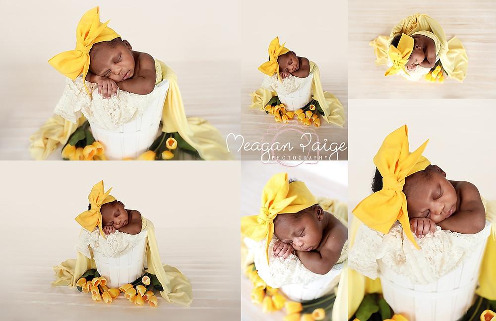 Baby Girl Tinaye - Yellow Flowers - Newborn Photographer