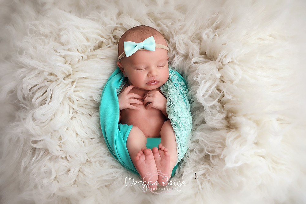 Baby Girl all dressed in Teal