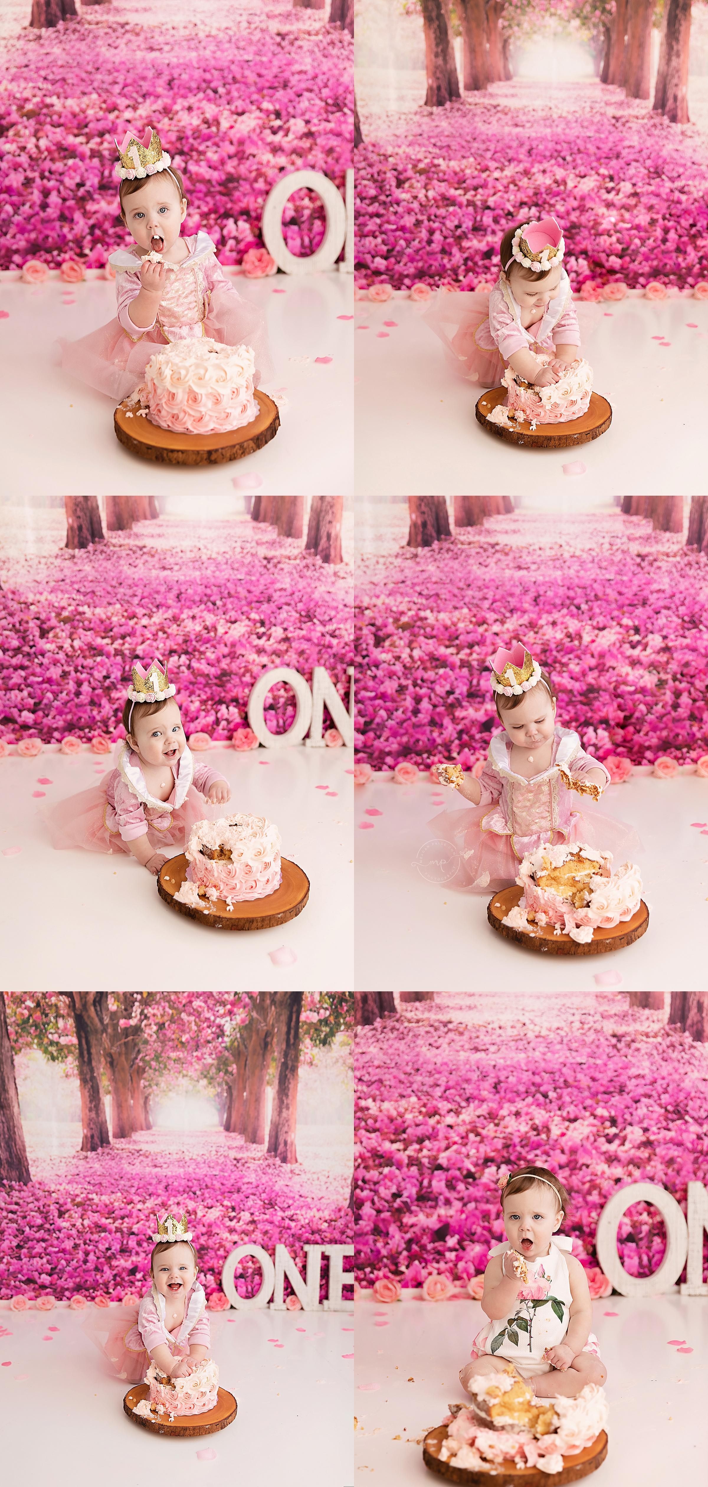 Aurora Rose Cake Smash - Calgary Photographer - Meagan Paige Photography
