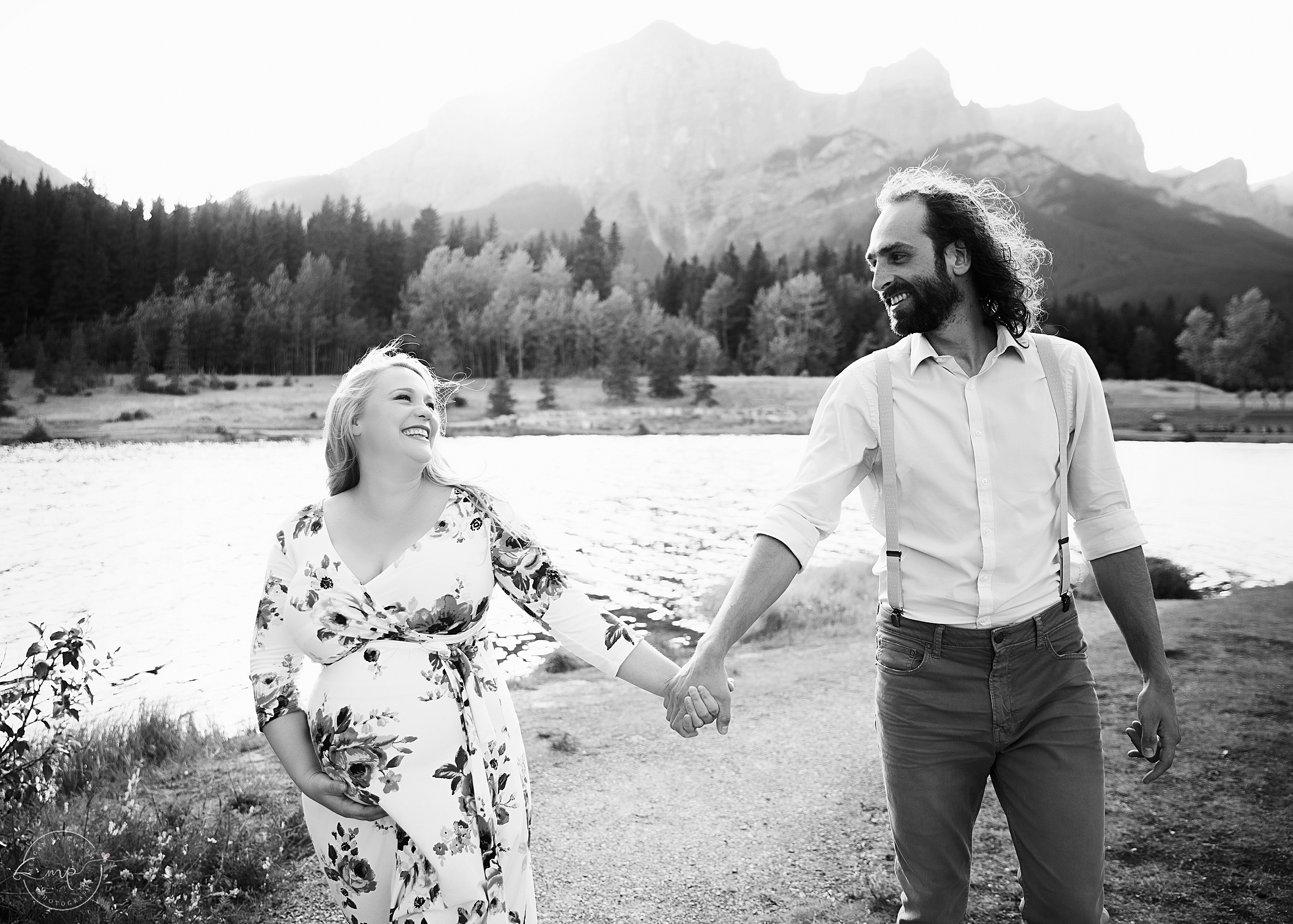 Canmore Mountain Maternity Session - Pregnancy Photographer - Meagan Paige Photography