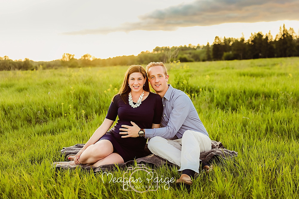 Pregnant Couple at Fish Creek Park