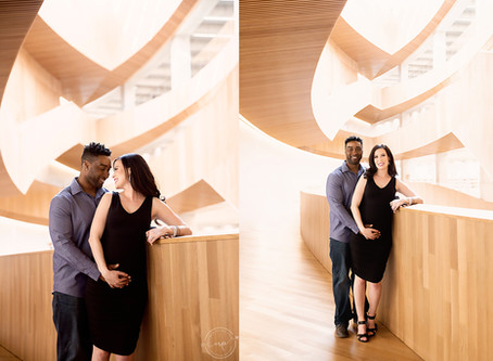 Downtown Maternity Session - Calgary Central Library