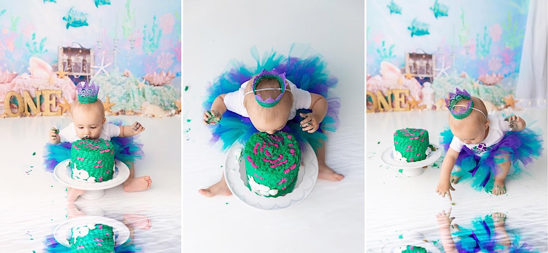 Mermaid Cake Smash - Calgary Photographer - Meagan Paige Photography