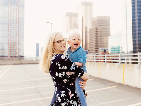 Parking Garage Family Session - Calgary Downtown