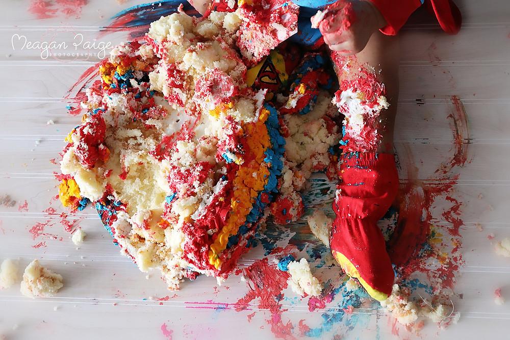Superman Cake DEMOLISHED