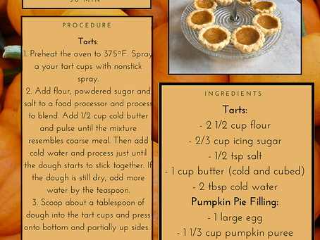 Kali's Pumpkin Tart Recipe
