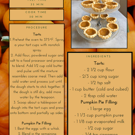 Kali's Pumpkin Tart Recipe