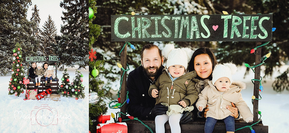 Family Photos at Confederation Park in the Snow
