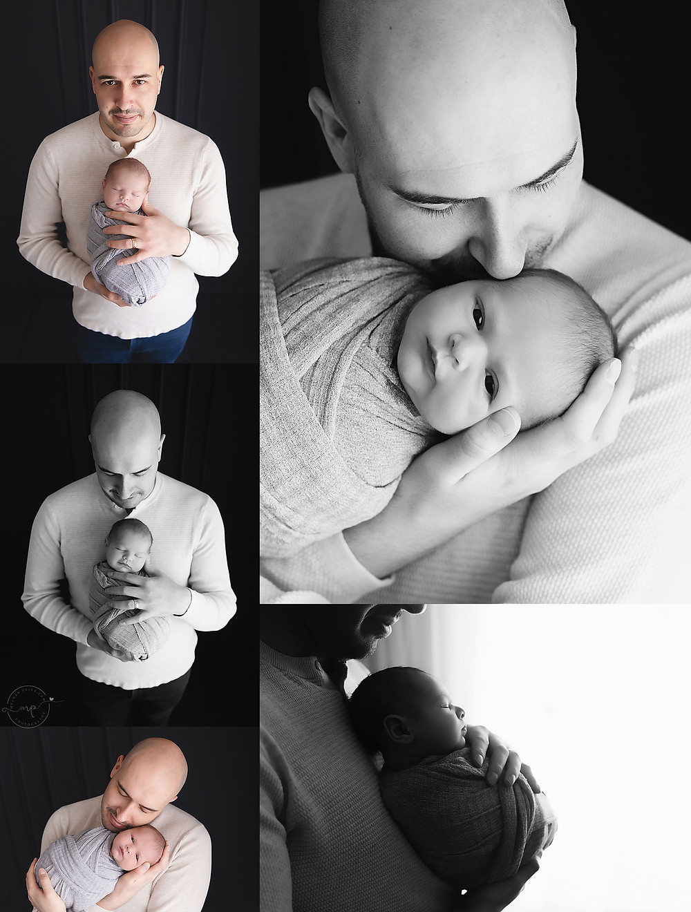 Black and White Newborn/Maternity Photo Session - Meagan Paige Photography - CALGARY AB