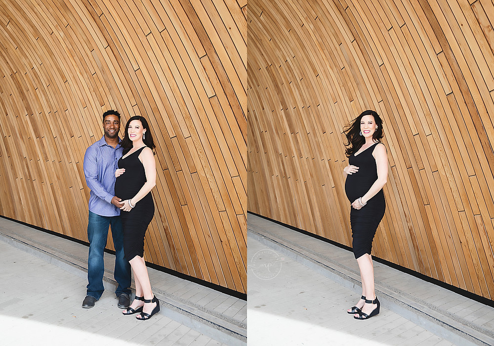 Downtown Maternity Session - Calgary Central Library - Meagan Paige Photography