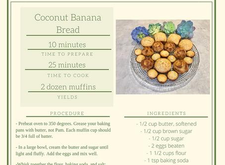 Kali's Coconut Banana Bread Recipe