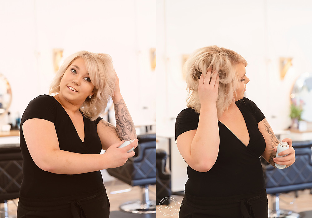 Business Branding Photography - Hairstylist - Airdrie - Meagan Paige Photography