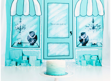 Breakfast at Tiffany's Cake Smash