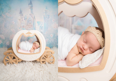 Studio Newborn Session - Baby Girl - Cal