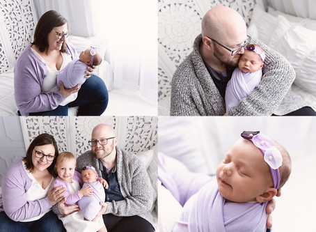 Pastel Pink and Purple Newborn Session - Calgary Baby Photographer