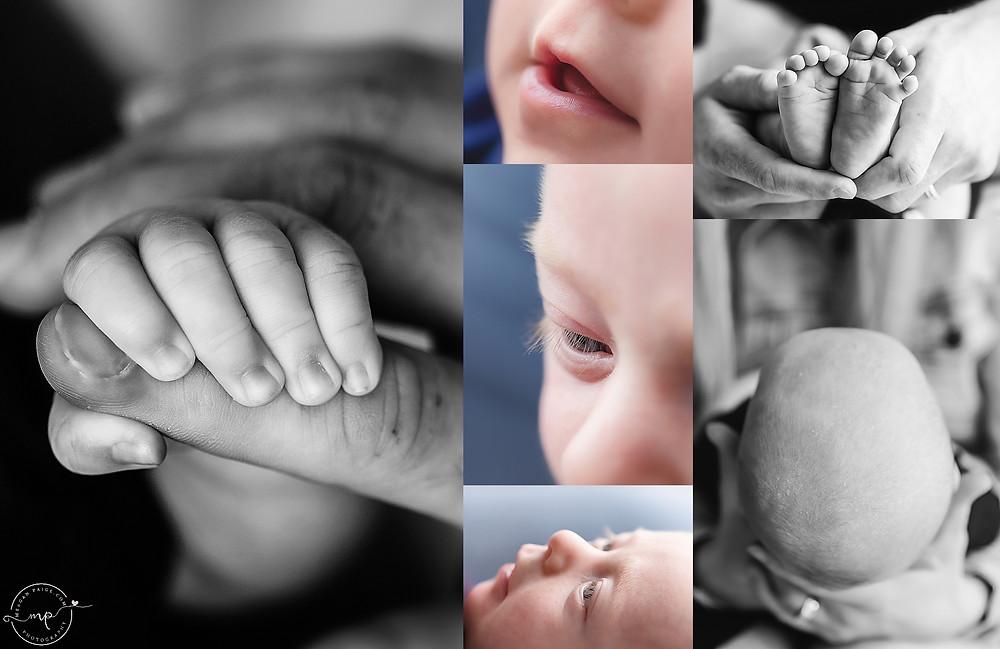Lifestyle Newborn Session - Calgary Photo Studio - Meagan Paige Photography
