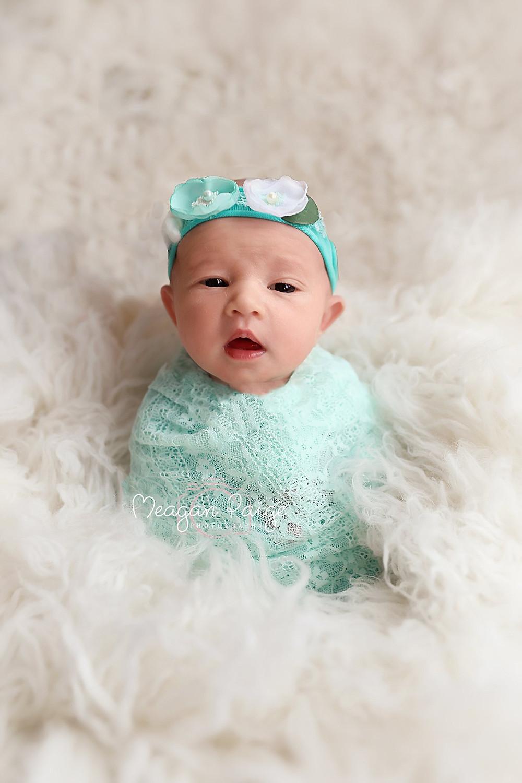 Awake photo of baby girl, Islay