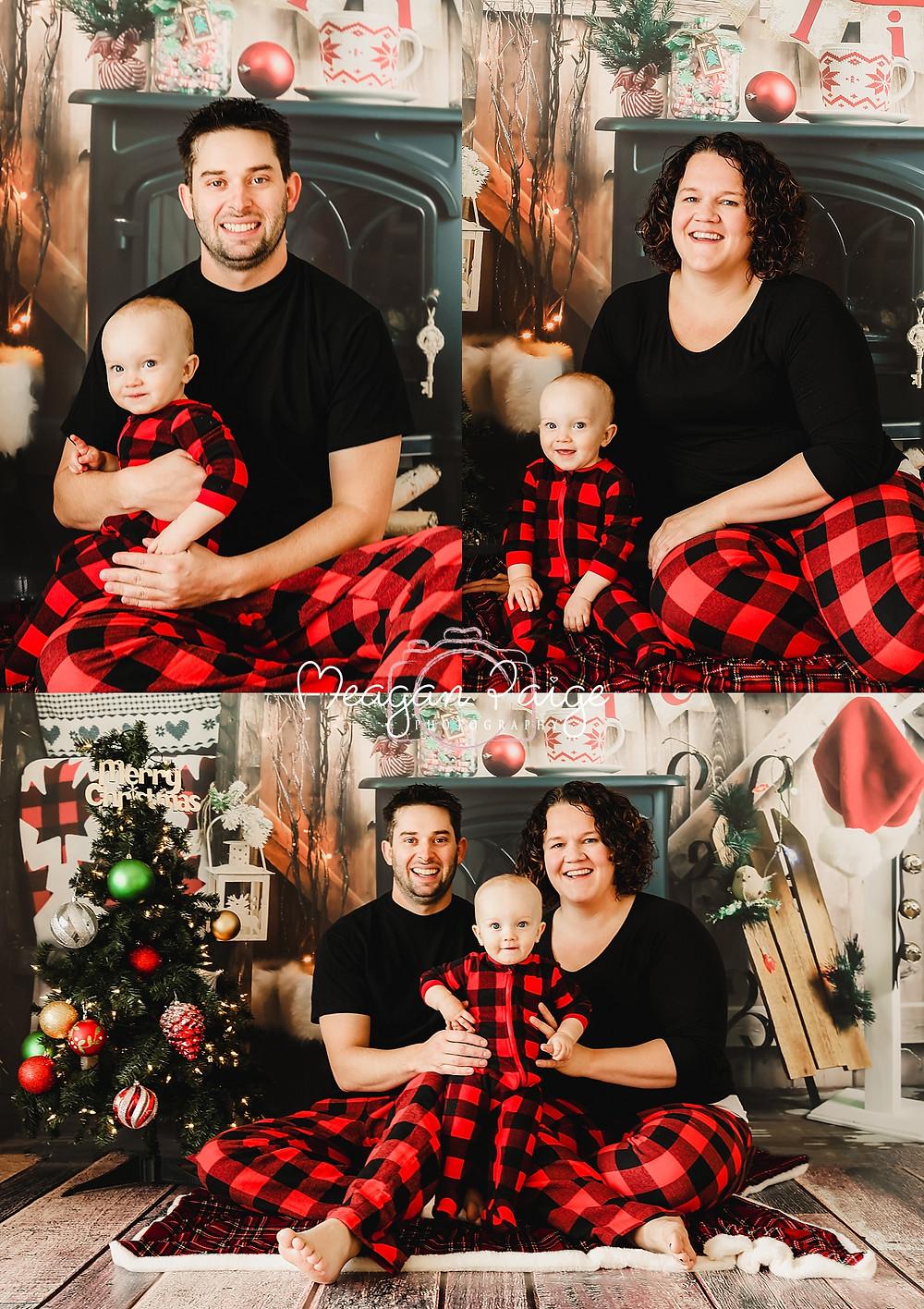 Indoor Christmas Pajama Mini Sessions - Calgary Photographer