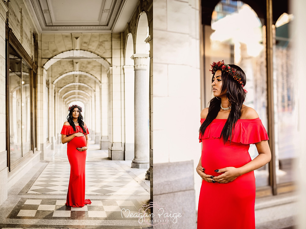 Calgary Downtown Maternity Session - Meagan Paige Photography