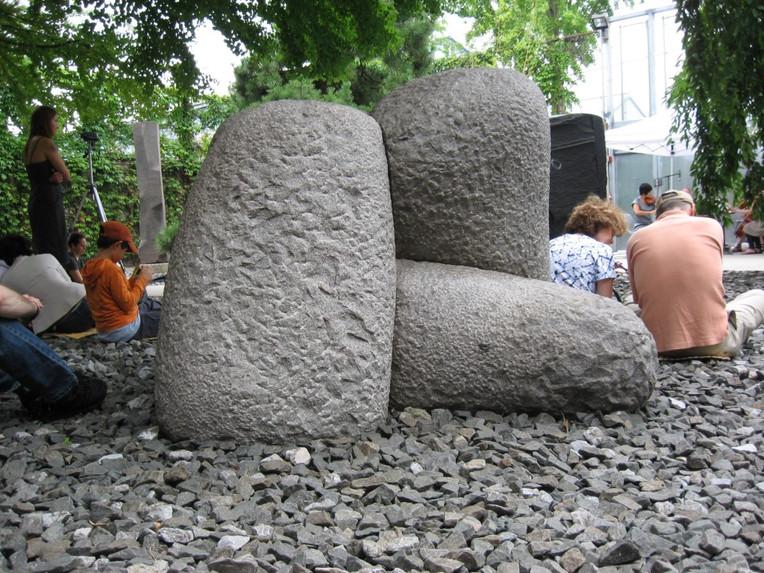 Stacked boulder art