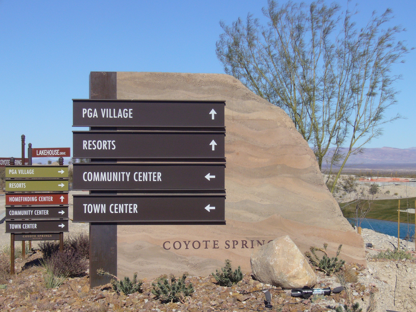 Coyote Springs DG sign